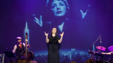 صورة إيديث بياف على مسرح أوبرا دبي