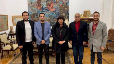 صورة الإسكندرية للفيلم القصير يعرض برنامجه على وزيرة الثقافة المصرية